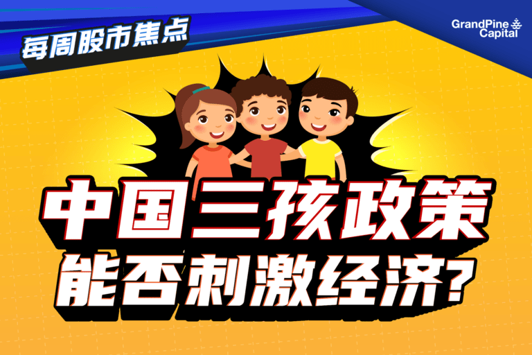 每周股市焦点 – 中国三孩政策能否刺激经济?
